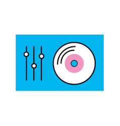 Vinyl player console icon vector