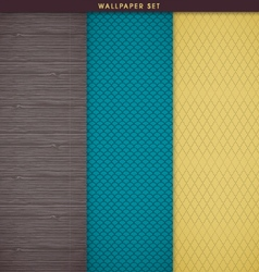Wallpaper and gift wrapping background texture set vector