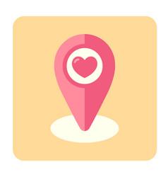 Wedding location flat icon vector