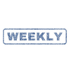 Weekly textile stamp vector