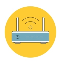 Wifi router outline icon flat vector