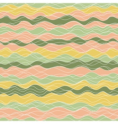 yellow orange green wave vector image