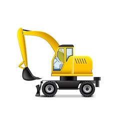 Excavator isolated on white vector image vector image