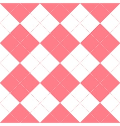 Pink White Diamond Background vector image vector image