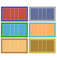 set of different volleyball court vector image vector image