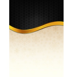 The black celebration paper with golden stripe vector image vector image