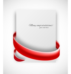 Abstract card vector image
