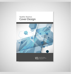 annual report leaflet brochure flyer vector image