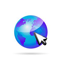 go to web symbol vector image vector image