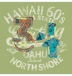 Hawaii surfing vector image vector image