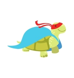 Land Turtle Animal Dressed As Superhero With A vector image vector image