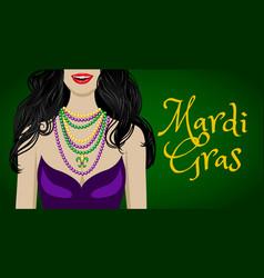 mardi gras greetings vector image vector image
