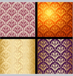seamless background vintage collection vector image vector image