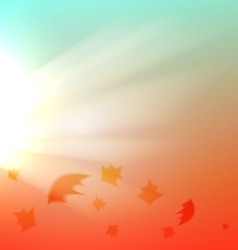The Autumn abstract background vector image