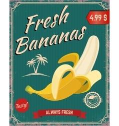 Fresh bananas Banana vector image vector image