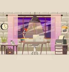 office desk orthogonal composition vector image
