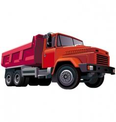 red dumper vector image