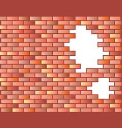 Seamless brick wall background vector