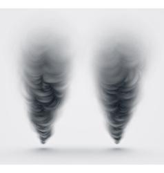 Black Smoke vector image