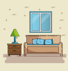 home furniture design vector image vector image