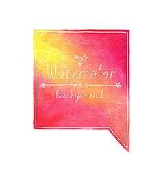 Watercolor bubble vector image