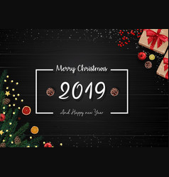 2019 happy new year and christmas background vector image