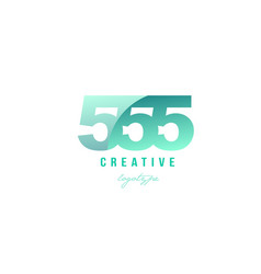 555 green pastel gradient number numeral digit vector