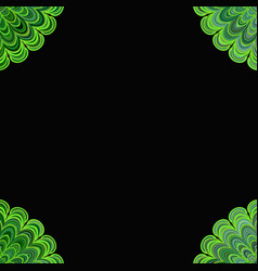 abstract floral mandala background - digital art vector image