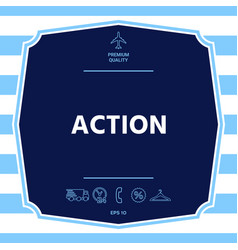 Action button symbol graphic elements for your vector