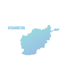 afghanistan map halftone composition isolated on vector image