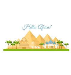 africa travel concept vector image