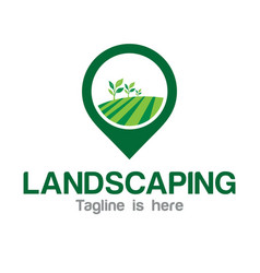 Agriculture landscaping logo vector