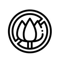 allergen free sign flower thin line icon vector image