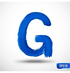 Alphabet Letter G Watercolor Alphabet vector