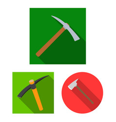 and ax icon collection vector image