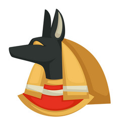 anubis egyptian god underworld dog head egypt vector image
