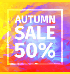 Autumn sale of 50 percent banner vector