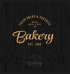 Bakery vintage logo bread and pastry vector