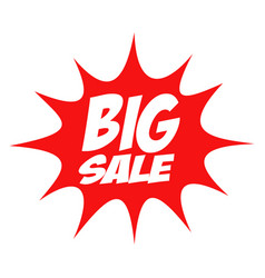 big sale in comic splash icon vector image