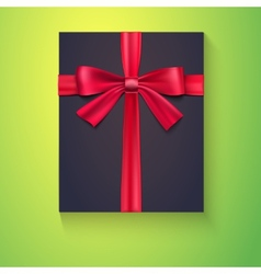 Black box red ribbon bow vector