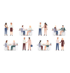 business partners shaking hands collaboration vector image