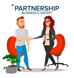 business partnership concept business man vector image