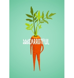 Carrot Diet Colorful Inspirational Vegetable vector