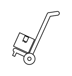 Cart icon Delivery and Shipping graphic vector