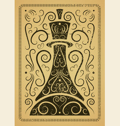 chess typographical vintage grunge style poster vector image