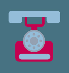 Classic vintage retro dial telephone are ringing vector