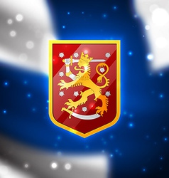 Coat of arms of Finland vector image
