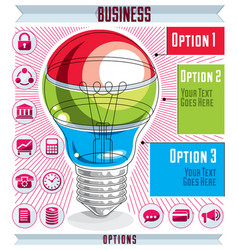 Creative infographics concept layered light bulb vector