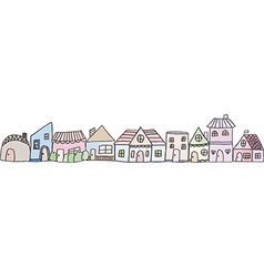 Cute doodle house vector