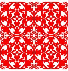 damask wallpaper design vector image
